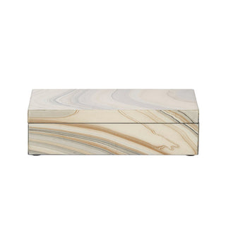 Individual Product - MARBLED LACQUER KEEPSAKE BOX - LONG