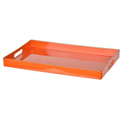 Individual Product - ORANGE & GOLD RECTANGULAR TRAY