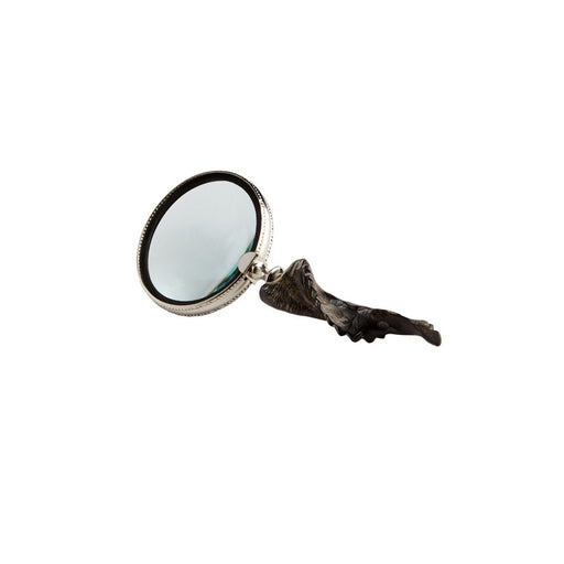 Individual Product - ROUND NICKEL & HORN MAGNIFYING GLASS