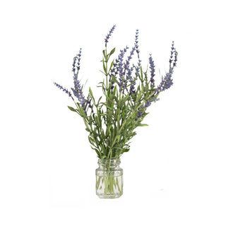 Individual Product - SINGLE LAVENDER IN GLASS VASE 11""