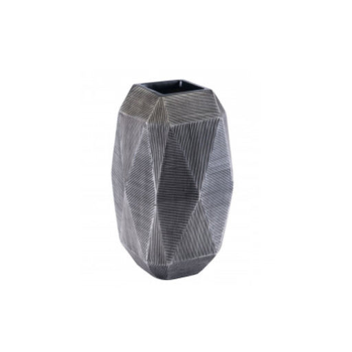 Individual Product - TEXTURED GRAY MODERN VASE- TALL