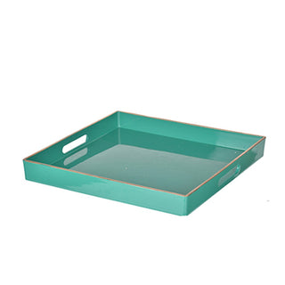 Individual Product - TURQUOISE & GOLD SQUARE TRAY