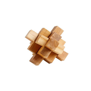 Individual Product - WOODEN PUZZLE SCULPTURE - CUBE