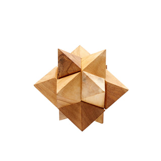 Individual Product - WOODEN PUZZLE SCULPTURE - STAR