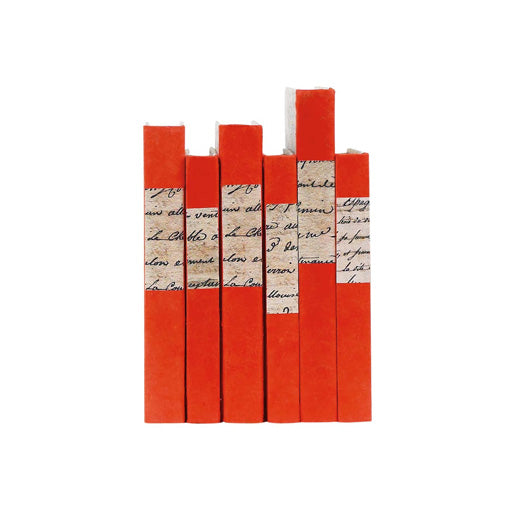 ORANGE HAND-WRAPPED BOOKS