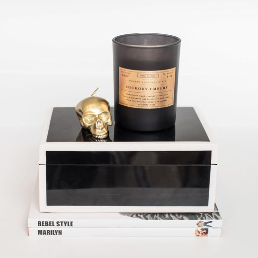 Sets - ANARCHY 13PC SET <br> Mini Skull Candles, Lacquer Keepsake Box, Books
