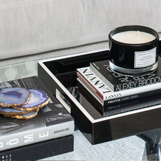 Sets - ARIELLE 11 PC SET <br>Lacquer Tray, Designer Books, Coasters, Candle