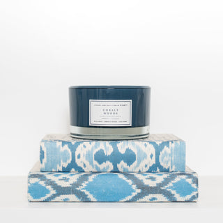 Sets - BETHANY 3 PC Set  <br>Candle & IKAT Books