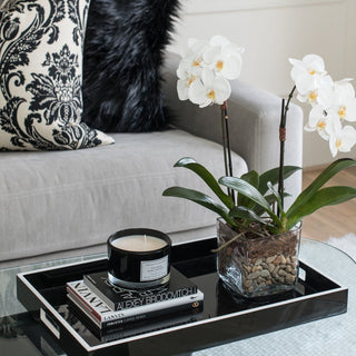 Sets - BIJOU 6 PC SET <br>Lacquer Tray, Books, Orchid, Coasters, Candle