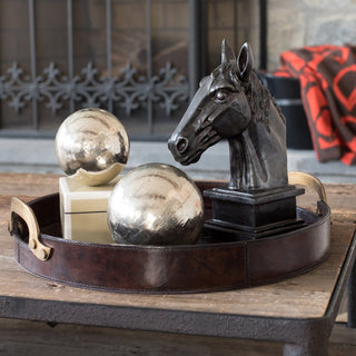 Sets - BLUEMONT 5 PC SET <br>Tray, Spheres, Horse Sculpture, Box