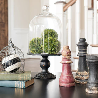 Sets - CHESHIRE 11 PC SET <br>Chess Pieces, Sphere, Bell Jar, Topiaries, Books