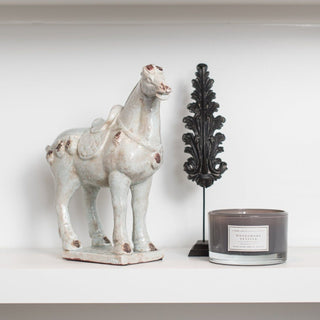 Sets - CHEVAL 3 PC SET <br>Horse Sculpture, Feather Pendant, Candle