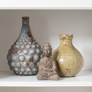 Sets - FES 3 PC SET <br>Blue Jar, Olive Jug, Buddah Sculpture