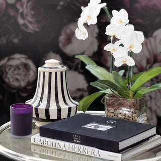 Sets - GRETTA 5 PC SET <br>Indlaid Urn, Candle, Books, Double Orchid