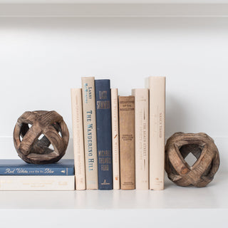 Sets - HYANNIS 11 PC SET <br>Wooden Spheres, Books