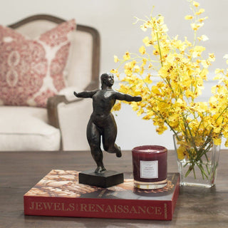 Sets - LANCASTER 4 PC SET <br>Dancer Sculpture, Orchids, Candle, Designer Book