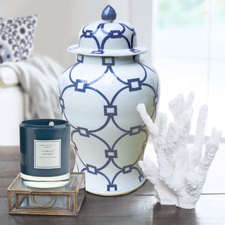 Sets - MAHÉ 6 PC SET <br>Coral, Porcelain Jar, Glass Boxes, Candle