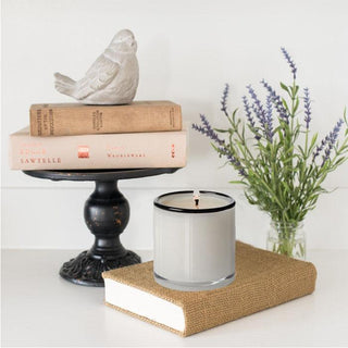 Sets - MILL VALLEY 8 PC Set <br>Bird Accent, Rustic Stand, Books, Lavender, Candle