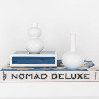 Sets - NOMAD 4 PC SET <br>Blue Lacquered Box, Mini Vases, Book