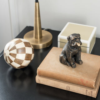 Sets - OLIVER 7 PC SET <br>Bulldog Sculpture, Sphere, Lacquer Box, Lamp
