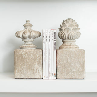 Sets - PIERRE 7 PC Set <br>Finial Bookends & Designer Books