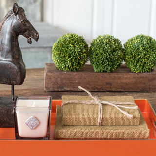 Sets - SALAMANDER 9 PC SET <br>Tray, Topiary Spheres, Candle, Books & Horse Sculpture