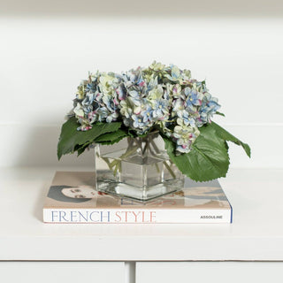 Sets - SORBONNE 2 PC SET <br>Blue Hydrangea, French Style Designer Book