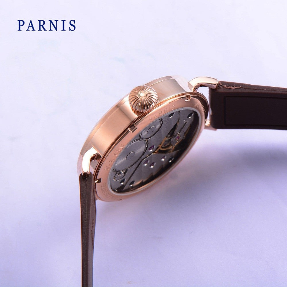 PARNIS B3-KRB Sport 43mm Orange No. Mechanical - Moment at Hand