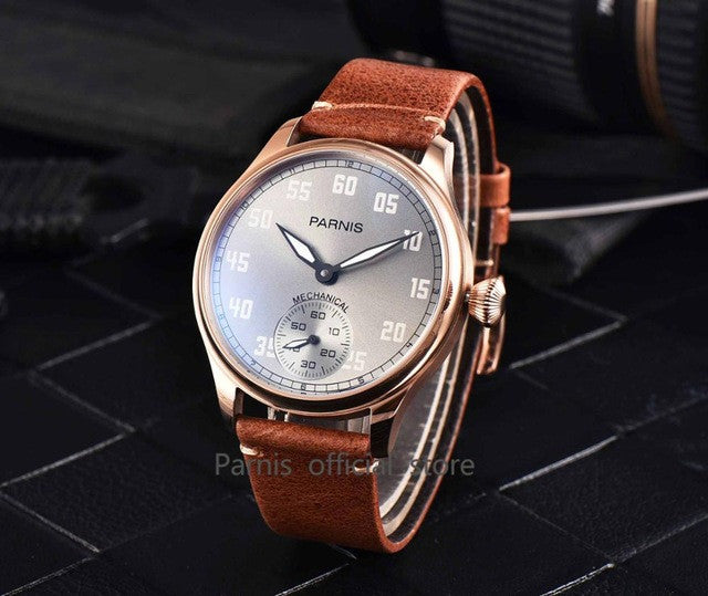PARNIS Aviator M1-SGB 41mm Mechanical - Moment at Hand