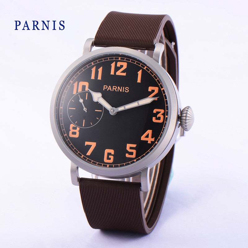 PARNIS B3-KSB Sport 43mm Orange No. Mechanical - Moment at Hand