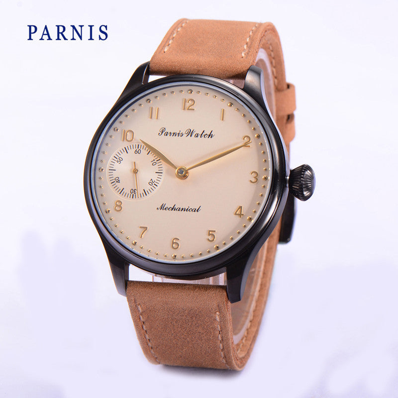 PARNIS Script 44mm Mechanical - Moment at Hand