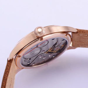 PARNIS Aviator ST-KGT Gold 41mm Mechanical - Moment at Hand