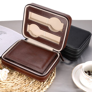 4 Piece Leather Travel Watch Case - Moment at Hand
