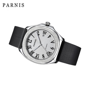 Parnis Aquatek Roman Dial with Silicon Sport Bracelet - Moment at Hand