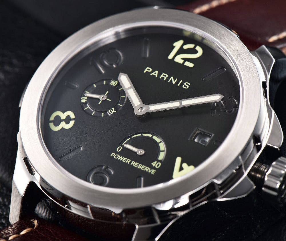 PARNIS PA6073 Modern Military Power Reserve Automatic - Moment at Hand