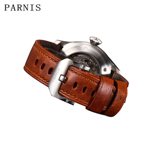 PARNIS PA768 Field Power Reserve Automatic - Moment at Hand
