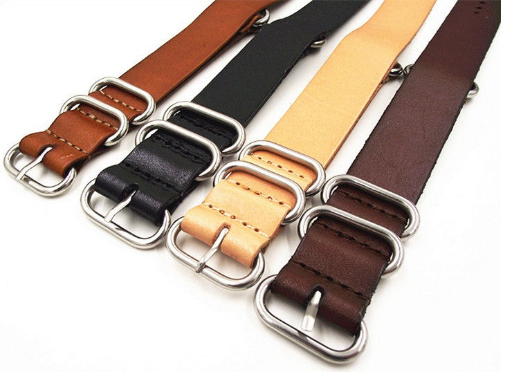 Leather Zulu Straps in 18, 20, 22 and 24mm - Moment at Hand