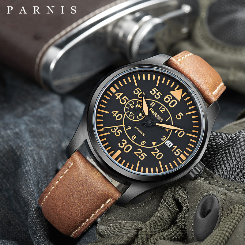 PARNIS PA6032 Pilot Series Automatic - Moment at Hand