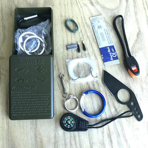 12 in 1  Emergency EDC Survival Kit - Moment at Hand