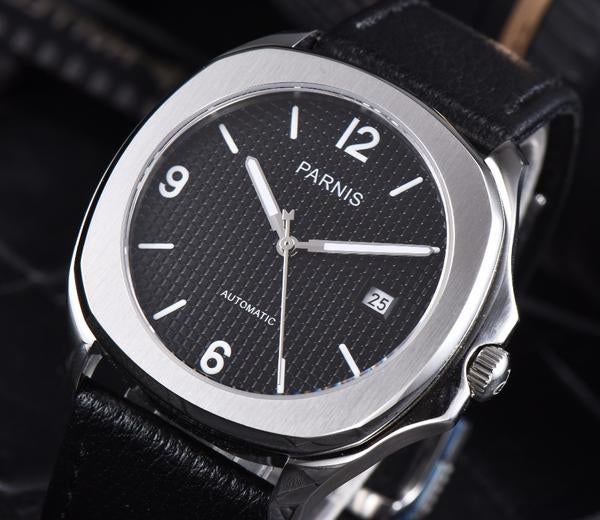 Parnis Aquatek Numeral Dial with Leather or Silicon Bracelet - Moment at Hand