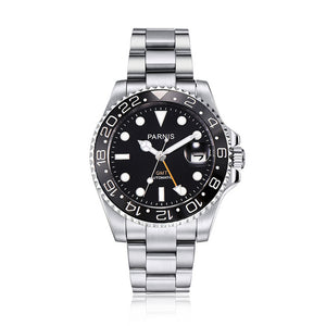 PARNIS PA2105 Voyage GMT Ceramic Bezel Automatic - Moment at Hand