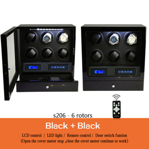 Momo Designs 6 Piece Watch Winder Display Case w/ Touch Screen & Remote - Moment at Hand
