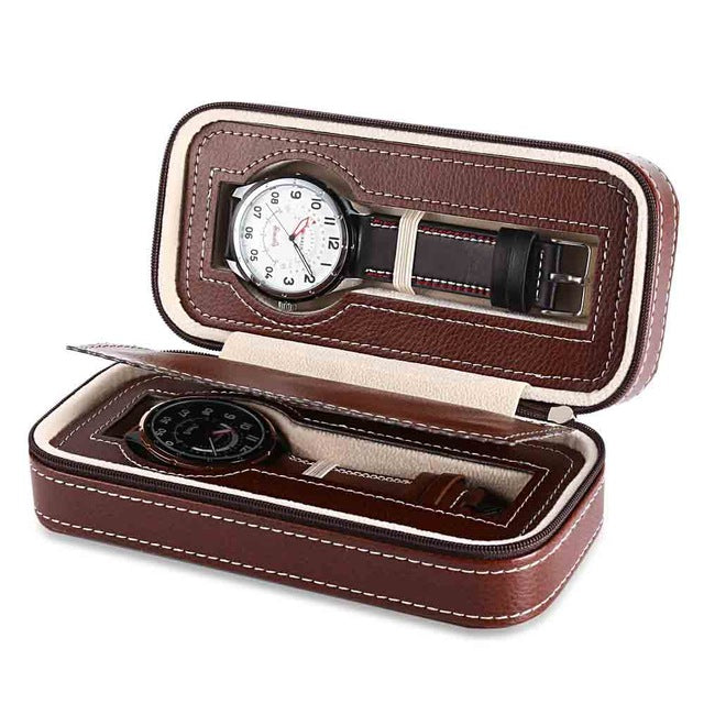 2 Piece Leather Travel Watch Case - Moment at Hand