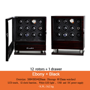 Loeapea/Momo Designs 2 to 16 Piece Winding Display Case w/ LCD Touch Scree - Moment at Hand