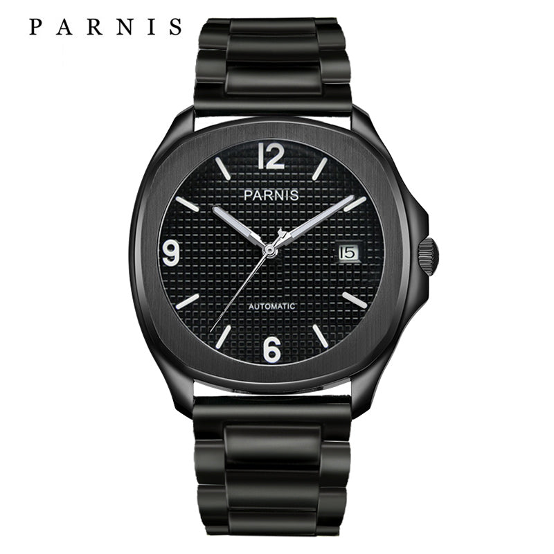 Parnis Aquatek Numeral Dial with Stainless Bracelet - Moment at Hand