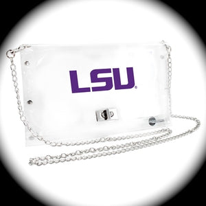 LSU Clear Cross Body Purse