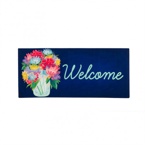 Floral Mason Jar Welcome Switch Mat Insert
