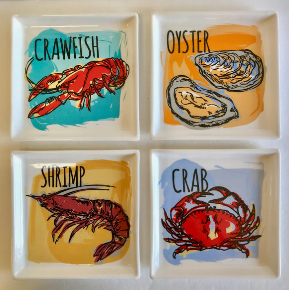 Ceramics & Platters  - Louisiana Seafood Dish Collection