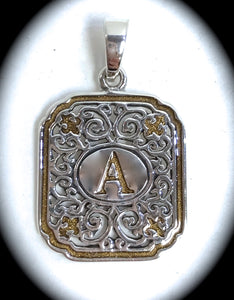 Iron Works Initial Pendant