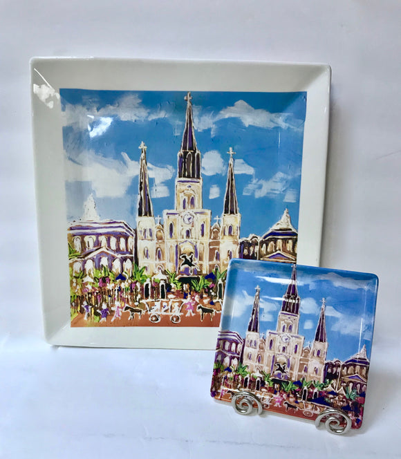 St. Louis Cathedral Platters